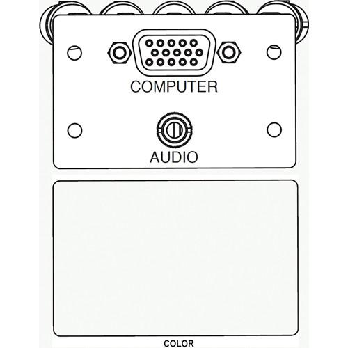 FSR IPS-AV921D A/V HD-15 to 5-BNC & 3.5mm Stereo to Solder Cup Insert (Labeled, White)