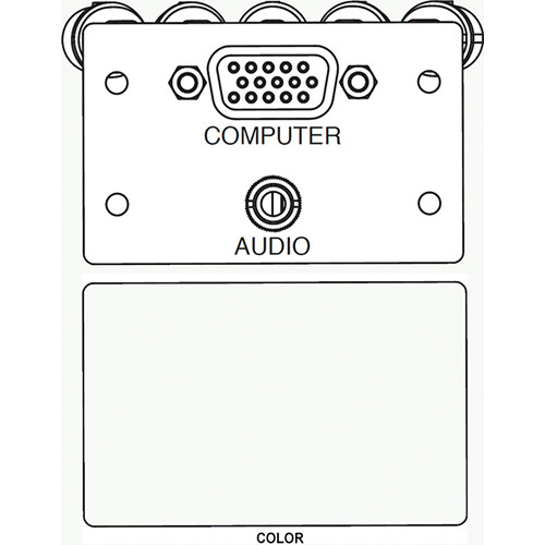 FSR IPS-AV921D A/V HD-15 to 5-BNC & 3.5mm Stereo to Solder Cup Insert (Labeled, White)