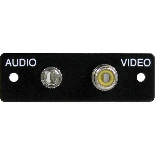 FSR IPS-AV922S Audio/Video Plate (Labeled, Black)