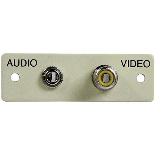 FSR IPS-AV922S Audio/Video Plate (Labeled, Ivory)