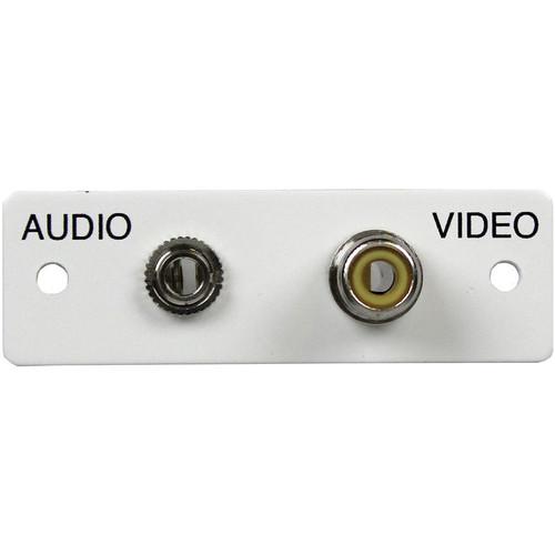 FSR IPS-AV922S Audio/Video Plate (Labeled, White)