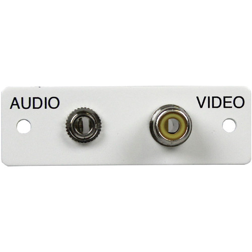FSR IPS-AV922S Audio/Video Plate (Labeled, White)