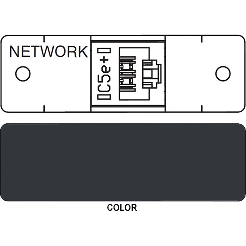 FSR IPS D710S RJ-45 Punchdown Data Connection Insert (Labeled, Black)