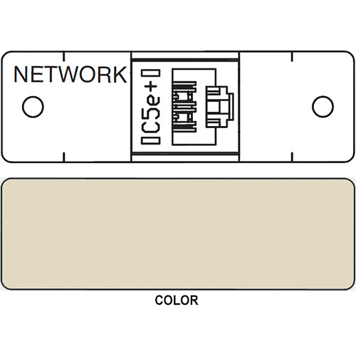 FSR IPS D710S RJ-45 Punchdown Data Connection Insert (Labeled, Ivory)