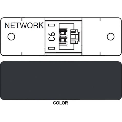 FSR IPS D711S RJ-45 Punchdown Cat 6 Data Connection Insert (Labeled, Black)