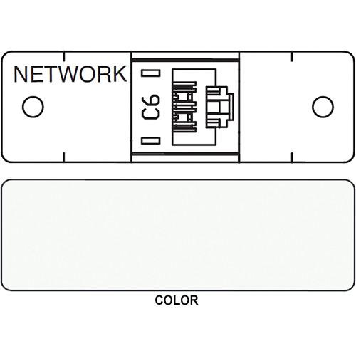 FSR IPS D711S RJ-45 Punchdown Cat 6 Data Connection Insert (Labeled, White)