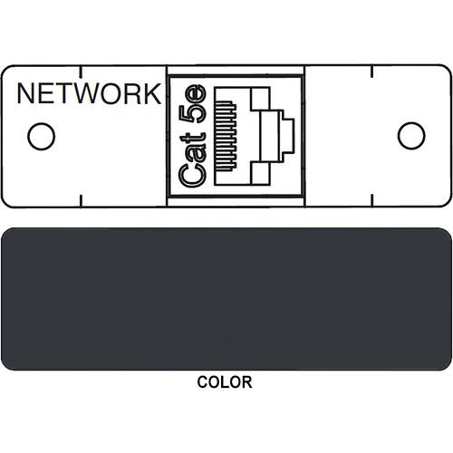 FSR IPS D712S RJ-45 to RJ-45 Bulkhead Data Connection Insert (Labeled, Black)