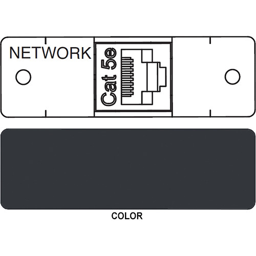 FSR IPS D712S RJ-45 to RJ-45 Bulkhead Data Connection Insert (Labeled, Black)