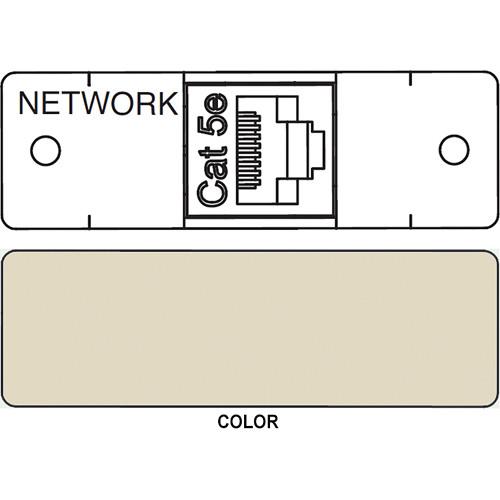 FSR IPS D712S RJ-45 to RJ-45 Bulkhead Data Connection Insert (Labeled, Ivory)