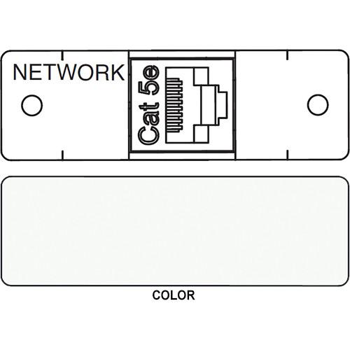 FSR IPS D712S RJ-45 to RJ-45 Bulkhead Data Connection Insert (Labeled, White)