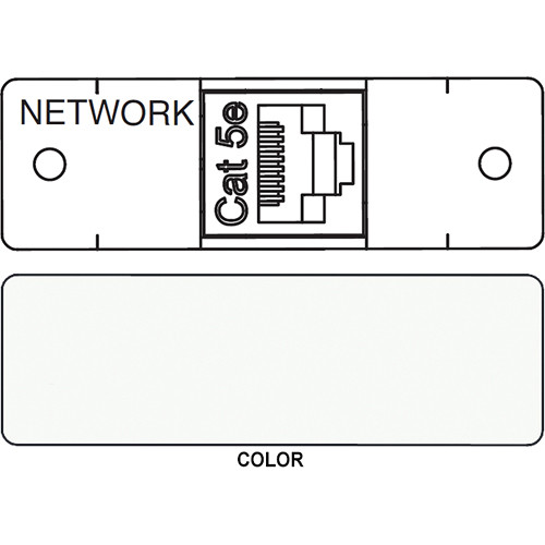FSR IPS D712S RJ-45 to RJ-45 Bulkhead Data Connection Insert (Labeled, White)