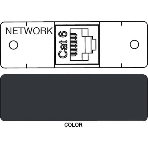 FSR IPS D713S RJ-45 to RJ-45 Bulkhead Data Connection Insert (Labeled, Black)