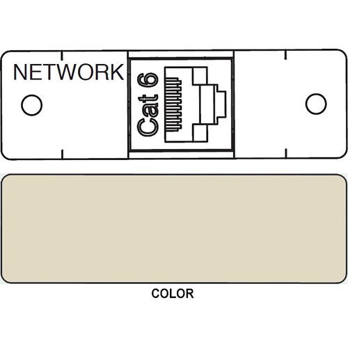 FSR IPS D713S RJ-45 to RJ-45 Bulkhead Data Connection Insert (Labeled, Ivory)