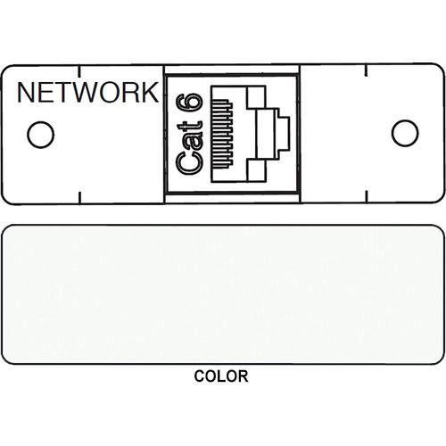 FSR IPS D713S RJ-45 to RJ-45 Bulkhead Data Connection Insert (Labeled, White)