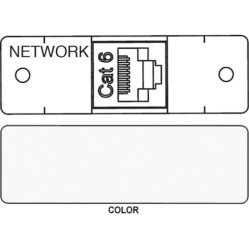 FSR IPS D713S RJ-45 to RJ-45 Bulkhead Data Connection Insert (Labeled, White)
