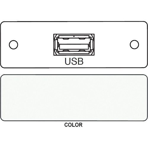 FSR IPS-D715S USB A to USB A Bulkhead Data Connection Insert (Labeled, White)