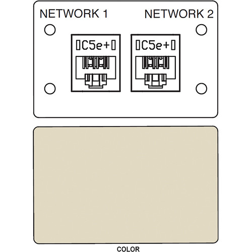 FSR IPS D720D Dual RJ-45 Punchdown Data Connection Insert (Labeled, Ivory)