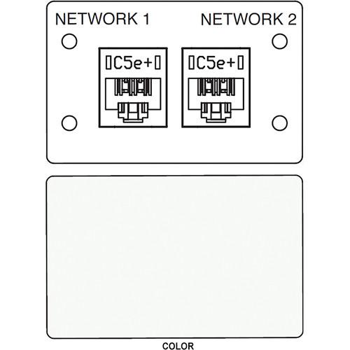 FSR IPS D720D Dual RJ-45 Punchdown Data Connection Insert (Labeled, White)