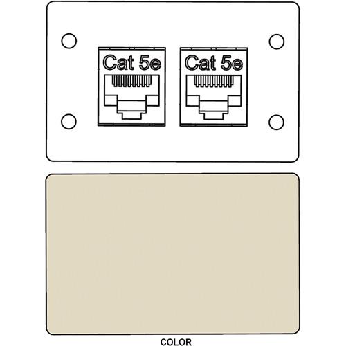 FSR IPS-D721D RJ-45 Bulkhead Dual Cat5-e Insert Plate (Ivory)