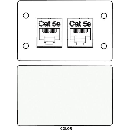 FSR IPS-D721D RJ-45 Bulkhead Dual Cat5-e Insert Plate (White)