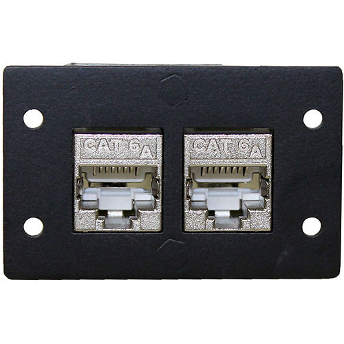 FSR Double-Height CAT6a Shielded Connector Insert (Black)