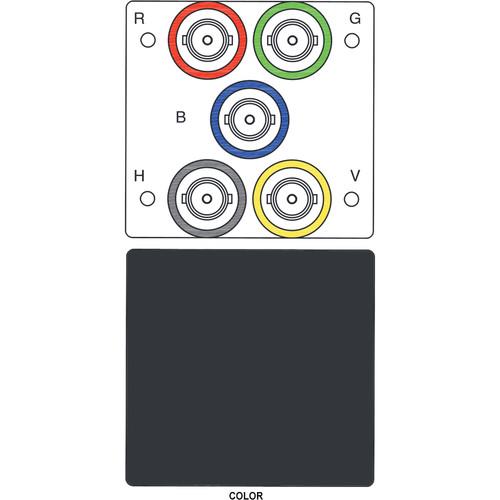 FSR IPS-V150T 5-BNC to 5-BNC Bulkhead Insert Module (Labeled, Black)
