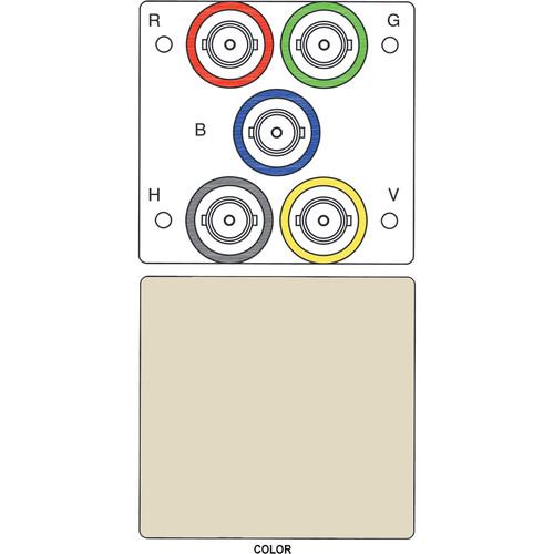 FSR IPS-V150T 5-BNC to 5-BNC Bulkhead Insert Module (Labeled, Ivory)
