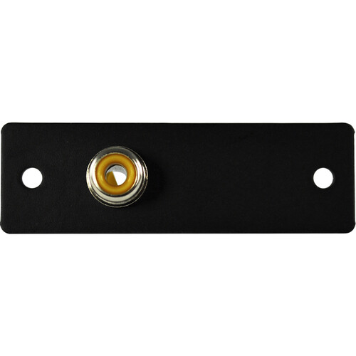 FSR IPS-V210S Yellow RCA to Solder Cup Video Connector Insert (Black, Labeled)
