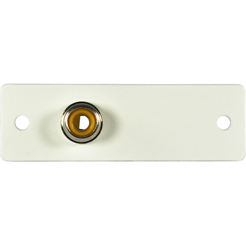 FSR IPS-V210S Yellow RCA to Solder Cup Video Connector Insert (White, Labeled)