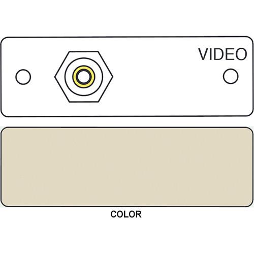 FSR IPS-V211S RCA to RCA Bulkhead Insert Module (Labeled, Ivory)