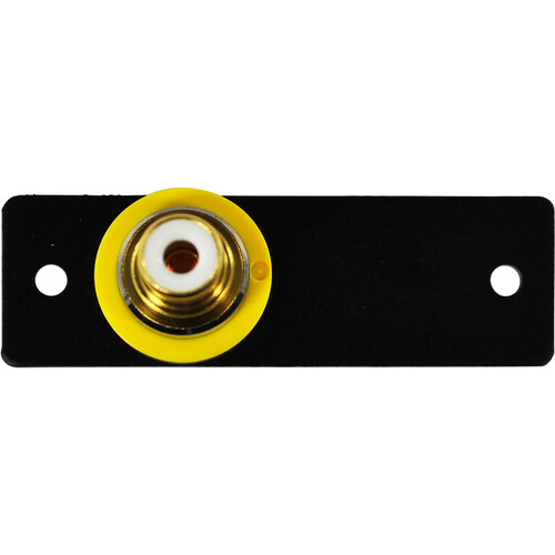 FSR IPS-V213S RCA to BNC Bulkhead Insert Module (Labeled, Black)