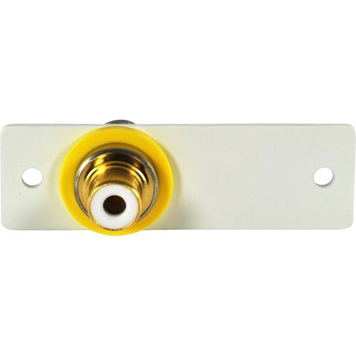 FSR IPS-V213S RCA to BNC Bulkhead Insert Module (Labeled, White)