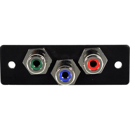 FSR IPS-V230S 3-RCA (R/G/B) to 3-RCA Bulkhead Video Insert (Labeled, Black)