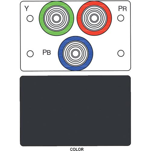 FSR IPS-V231D 3-RCA (R/G/B) to BNC Bulkhead Insert Module (Labeled, Black)