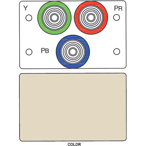 FSR IPS-V231D 3-RCA (R/G/B) to BNC Bulkhead Insert Module (Labeled, Ivory)