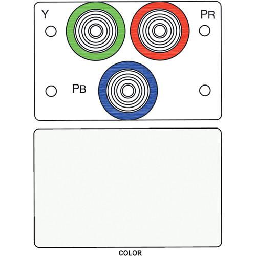 FSR IPS-V231D 3-RCA (R/G/B) to BNC Bulkhead Insert Module (Labeled, White)