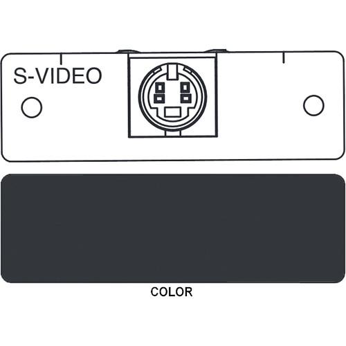 FSR IPS-V310S S-Video to 2 BNC Breakout Insert Module (Labeled, Black)