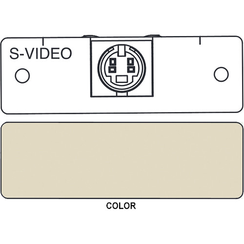 FSR IPS-V310S S-Video to 2 BNC Breakout Insert Module (Labeled, Ivory)