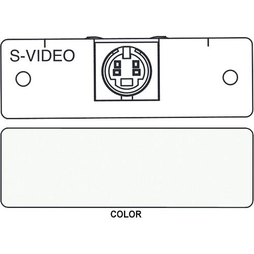 FSR IPS-V310S S-Video to 2 BNC Breakout Insert Module (Labeled, White)