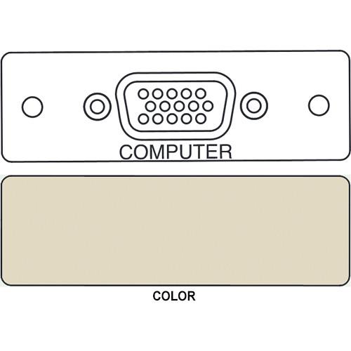 FSR IPS-V410S HD-15 Female Video Bulkhead Insert Module (Labeled, Ivory)