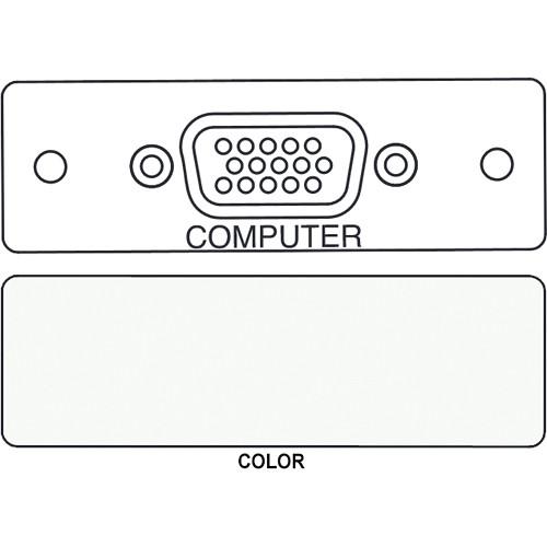 FSR IPS-V410S HD-15 Female Video Bulkhead Insert Module (Labeled, White)