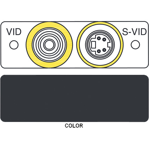 FSR IPS-V921S S-Video to S-Video & RCA to BNC Insert Module (Labeled, Black)