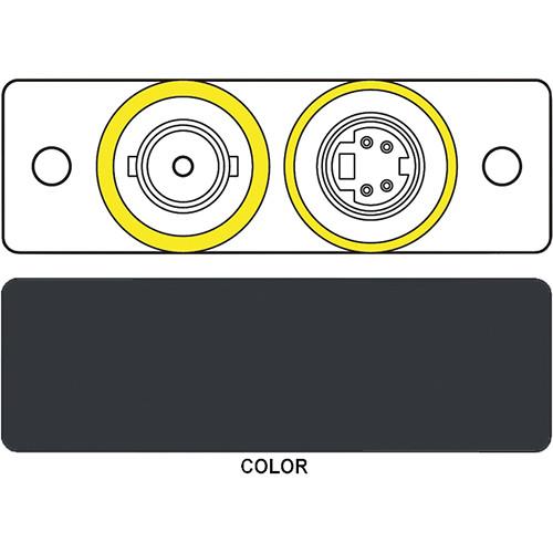 FSR IPS-V922S S-Video & BNC Dual Bulkhead Insert Module (Labeled, Black)