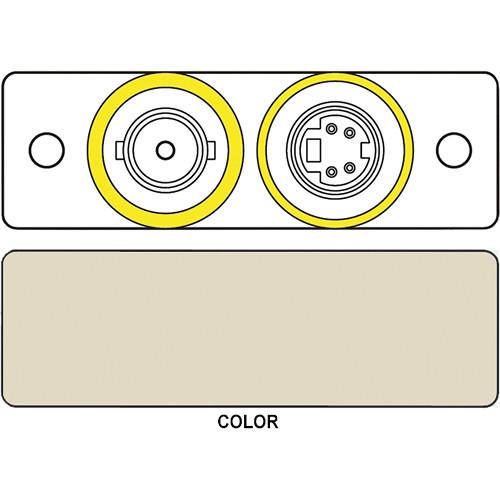 FSR IPS-V922S S-Video & BNC Dual Bulkhead Insert Module (Labeled, Ivory)