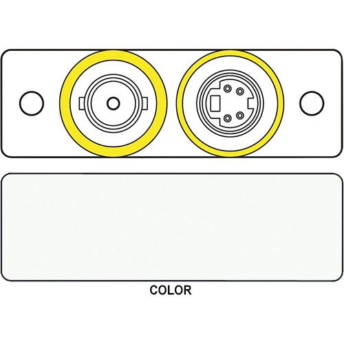 FSR IPS-V922S S-Video & BNC Dual Bulkhead Insert Module (Labeled, White)