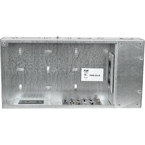 """FSR Flat Panel Display Wall Box with Decora & Duplex Cover Plates (3"""", White)"""