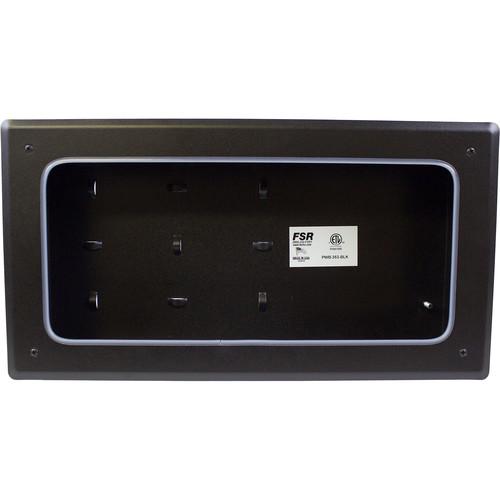 FSR PWB-353 Coverless Plasma/Flat-Panel Display Wall Box (Black)