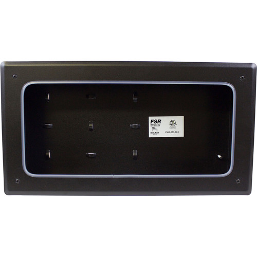 FSR PWB-353 Coverless Plasma/Flat-Panel Display Wall Box (Black)