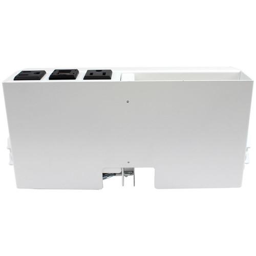 FSR Table-Edge Table Box for 2 T6 Large Brackets / 4 TBRT Cable Retractors (White)