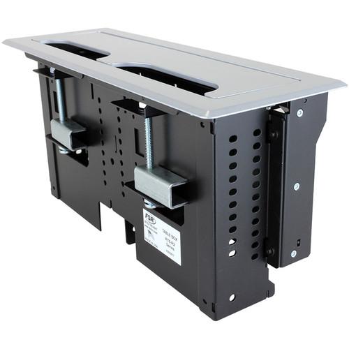 FSR 2 Section Rectangular Table Box with 1 Universal Bracket (Brushed Anodized Aluminum)